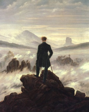 The wanderer standing alone