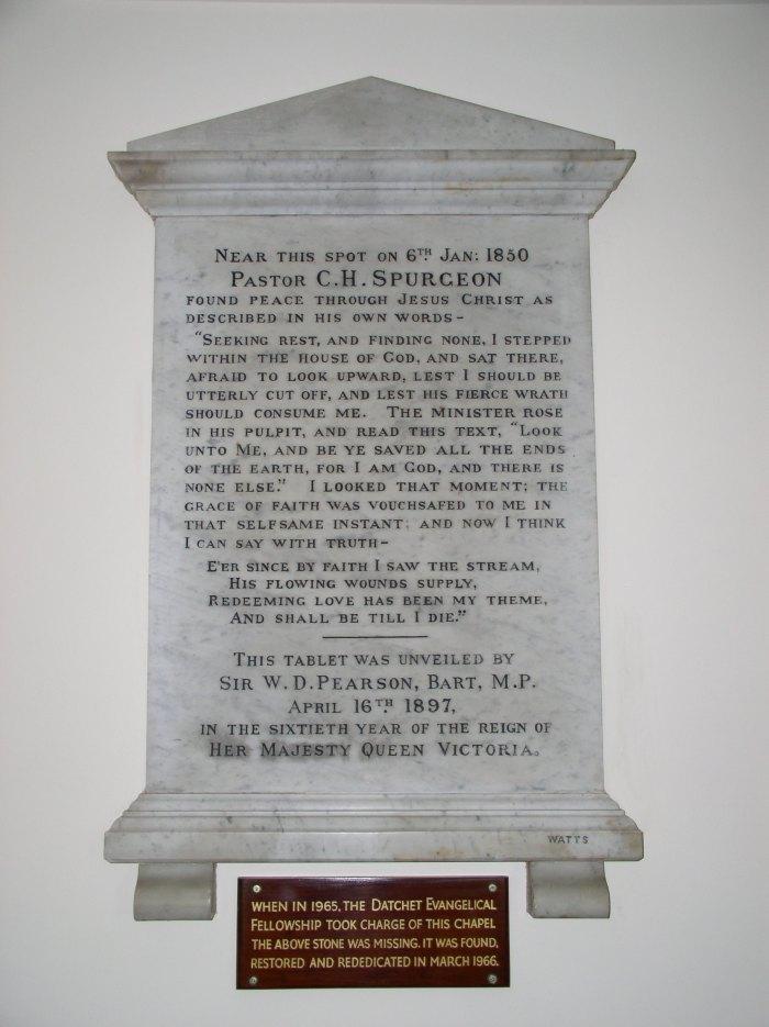Artillery Street Chapel (big plaque)