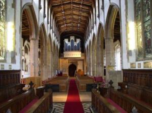 Dedham church interior