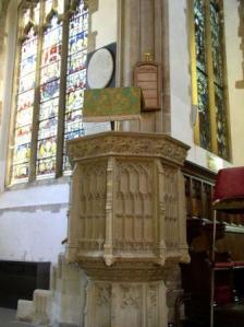 Dedham pulpit