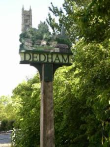 Dedham sign