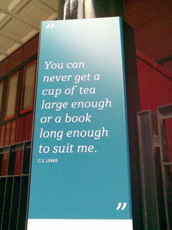 Lewis reading & tea